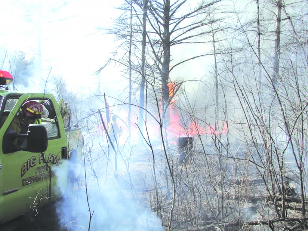 At around 3 PM on Mar. 20, firefighters from the Big Flats Fire Department were on their way back from a previous illegal burning complaint when they...