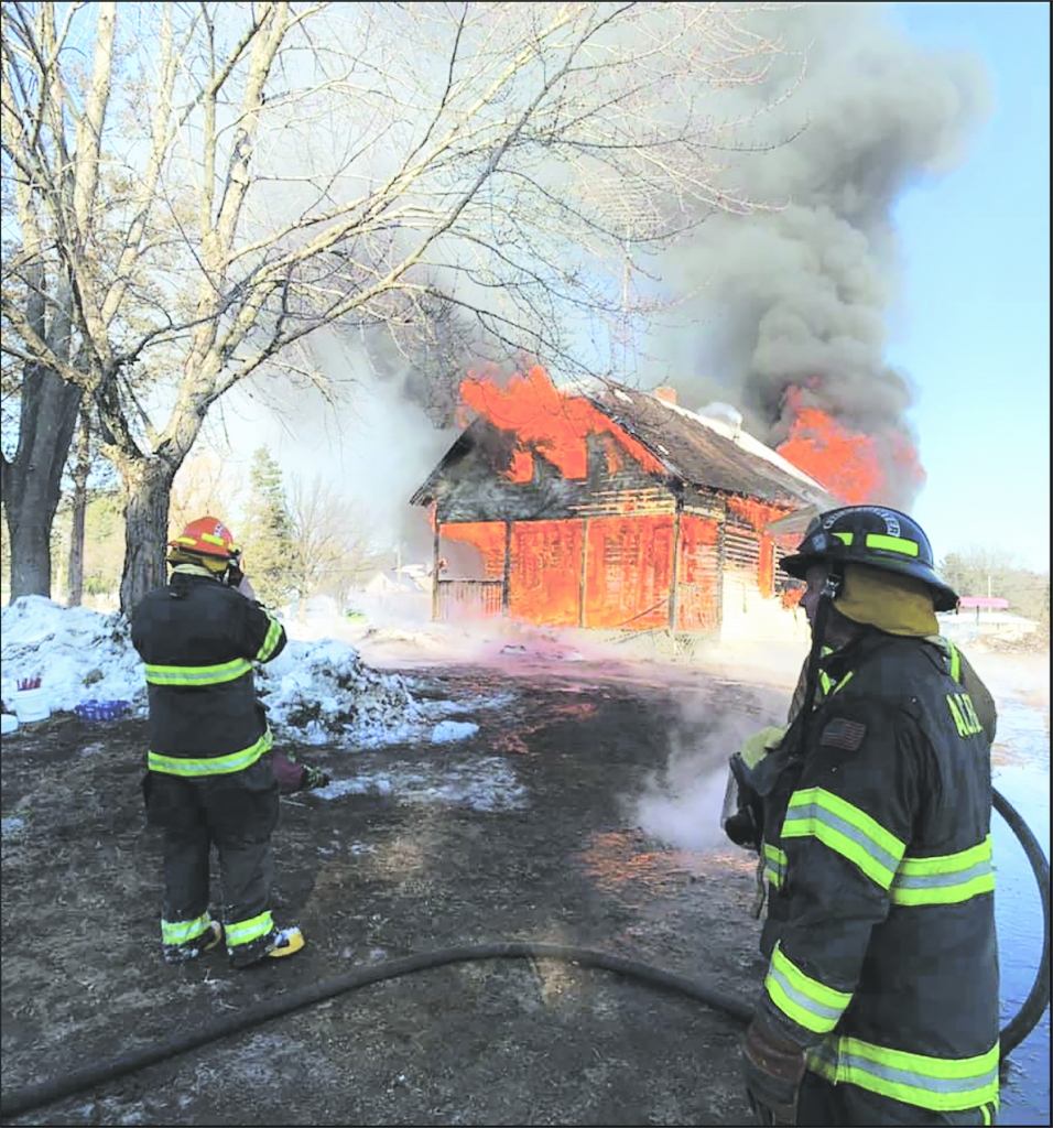 Local volunteer fire fighters from Adams County Fire District, Big Flats Fire Dept. and New Chester Fire Dept. participated in a controlled...