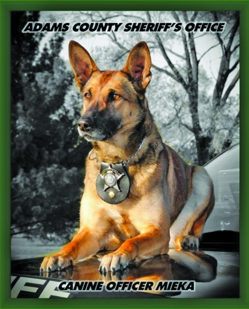 It is with a sad and heavy heart that the Adams County Sheriff's Office announce the passing of retired K9 Deputy Mieka. Mieka passed away on...